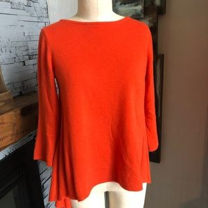 Nordstrom Sweaters - Nordstrom Collection Orange Cashmere Swing Back